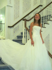 Allure Bridals '8816' size 4 used wedding dress front view on bride