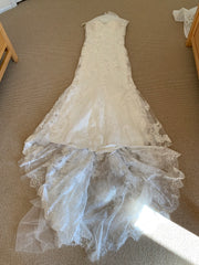 Casablanca 'Imperial' size 12 new wedding dress front view flat