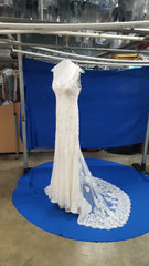 Stella York '6142' size 10 used wedding dress side view on hanger