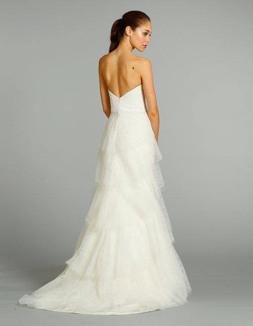 Alvina Valenta AV9260 Chantilly Lace Wedding Dress - Alvina Valenta - Nearly Newlywed Bridal Boutique - 2