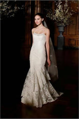 Romoma Keveza 'Legends 506' size 6 used wedding dress front view on model