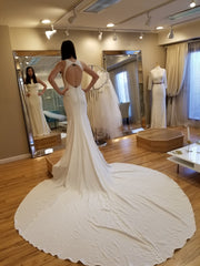 Martina Liana '932' size 8 new wedding dress back view on bride