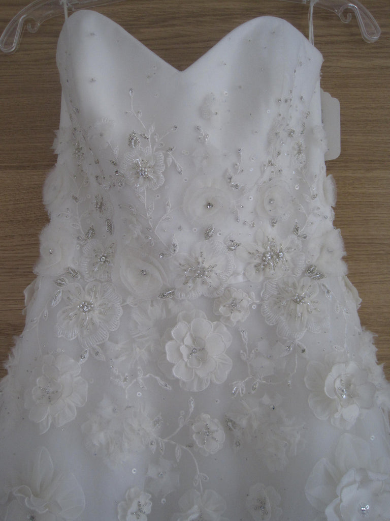 Tara Keely Style 2106 with floral embellishments - Tara Keely - Nearly Newlywed Bridal Boutique - 2