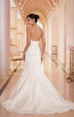 Stella York '5840' size 14 new wedding dress back view on model