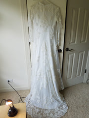 Miss Philippines 'Padme Queen Amidala' size 2 used wedding dress back view on hanger