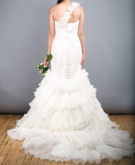 St. Patrick Rosana One Shoulder Wedding Dress - St. Patrick - Nearly Newlywed Bridal Boutique - 5