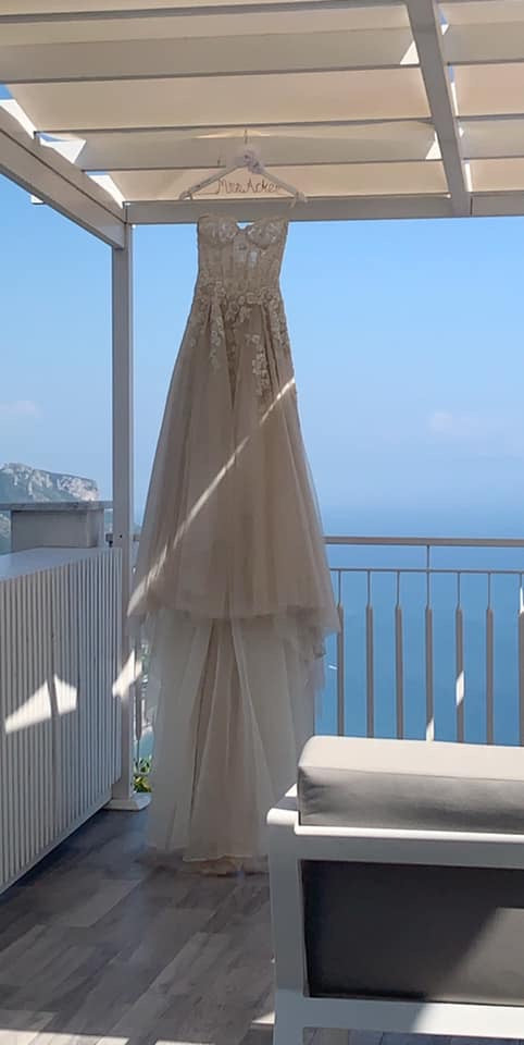 Galia Lahav 'Gia' size 0 used wedding dress front view on hanger