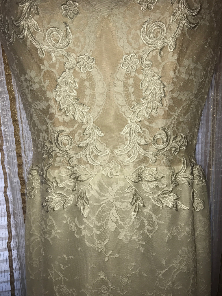 Ines Di Santo 'Madrid' size 6 new wedding dress close up front view