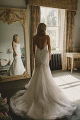 Mori Lee '2823' size 6 used wedding dress back view on bride