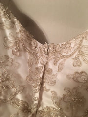 Alfred Angelo 'Formal' size 6 used wedding dress back view close up