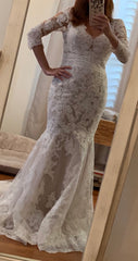 Enzoani 'Mary' size 4 new wedding dress front view on bride