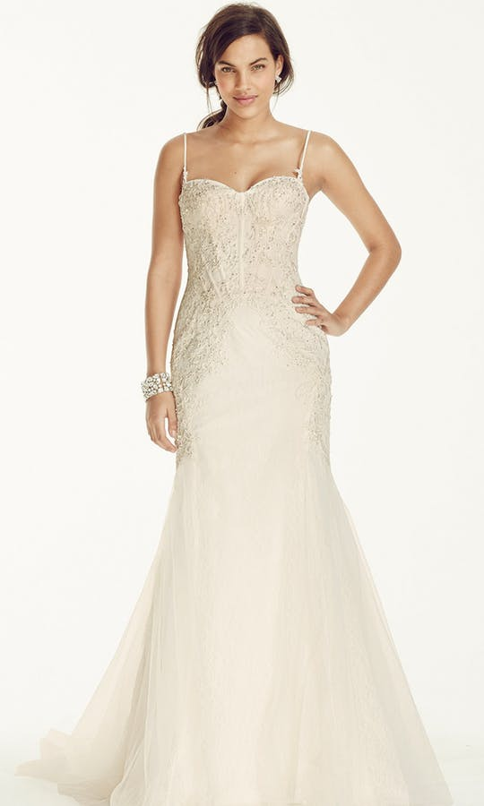 Galina Signature 'SWG690' size 2 new wedding dress front view on model