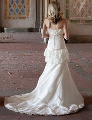 Priscilla of Boston Platinum STYLE PL163 Wedding Dress - Priscilla of Boston - Nearly Newlywed Bridal Boutique - 3