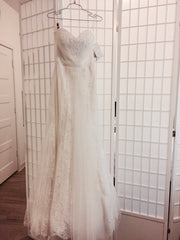 Lillian West '6349' size 6 new wedding dress front view on hanger