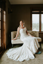 Load image into Gallery viewer, Maggie Sottero 'Viera' size 10 used wedding dress front view on bride