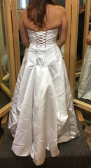 Maggie Sottero 'Haut Couture' size 8 used wedding dress back view on bride