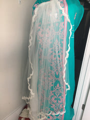 Essence of Australia '1417' size 8 used wedding dress view of veil
