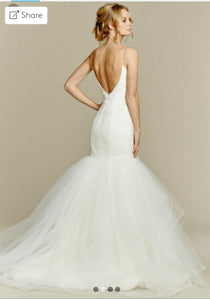 Hayley Paige 'Blush' size 12 sample wedding dress back view on model