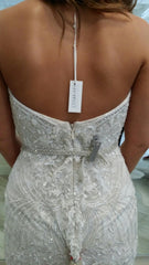 Monique Lhuillier 'Gweneth' size 8 used wedding dress back view on bride
