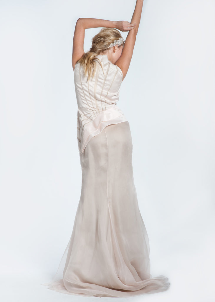 Bibhu Mohapatra 'Angelina' Blush & Nude Mermaid Wedding Dress - Bibhu Mohapatru - Nearly Newlywed Bridal Boutique - 1
