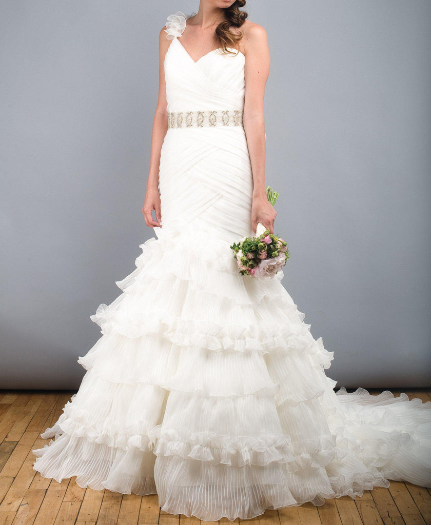 St. Patrick Rosana One Shoulder Wedding Dress - St. Patrick - Nearly Newlywed Bridal Boutique - 4
