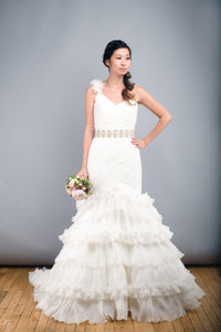 St. Patrick Rosana One Shoulder Wedding Dress - St. Patrick - Nearly Newlywed Bridal Boutique - 1