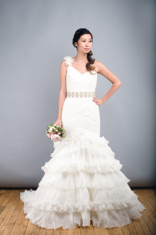 St. Patrick Rosana One Shoulder Wedding Dress