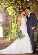 Load image into Gallery viewer, Essense of Australia 'High Neck Boho' size 4 new wedding dress side view on bride