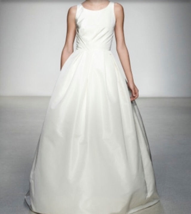 Amsale 'Astor' size 2 new wedding dress front view on model