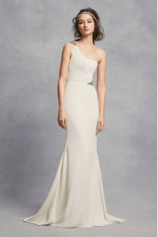 Vera Wang White 'One Shoulder Sheath'