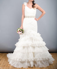 St. Patrick Rosana One Shoulder Wedding Dress - St. Patrick - Nearly Newlywed Bridal Boutique - 2