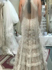 Mori Lee '99061' size 6 sample wedding dress back view on bride