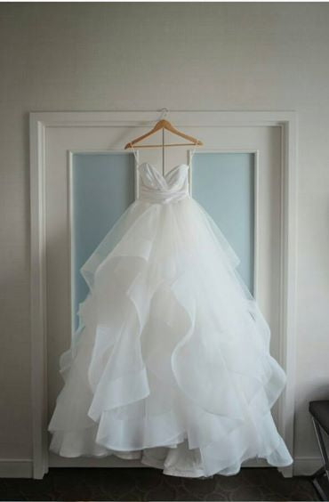 Hayley Paige 'Londyn' size 10 new wedding dress front view on hanger