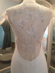 Lela Rose 'The Parish' size 10 sample wedding dress back view close up on mannequin