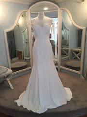 Lela Rose 'The Parish' size 10 sample wedding dress front view on mannequin