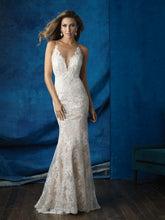 Load image into Gallery viewer, Allure '9363' size 2 used wedding dress front view on model