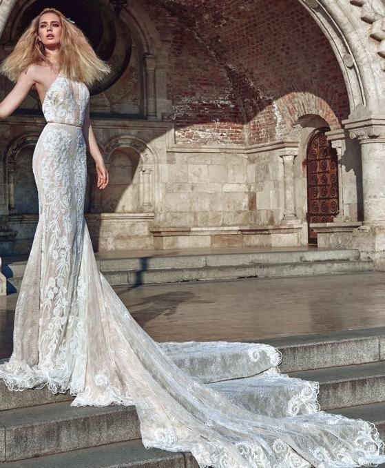 Galia Lahav 'Victoria' size 8 used wedding dress front view on model