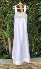 Melissa Sweet 'Beaded A-Line' size 16 used wedding dress front view on hanger