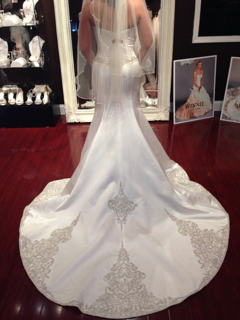 Winnie Couture 'Constance' Satin Pearl - Winnie Couture - Nearly Newlywed Bridal Boutique - 3