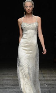 Lazaro '3307' size 10 new wedding dress front view on model