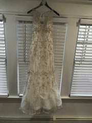 Maggie Sottero 'Blakely' size 2 used wedding dress front view on hanger