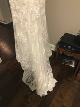 Load image into Gallery viewer, Eddy K '1131' size 4 used wedding dress view of hemline