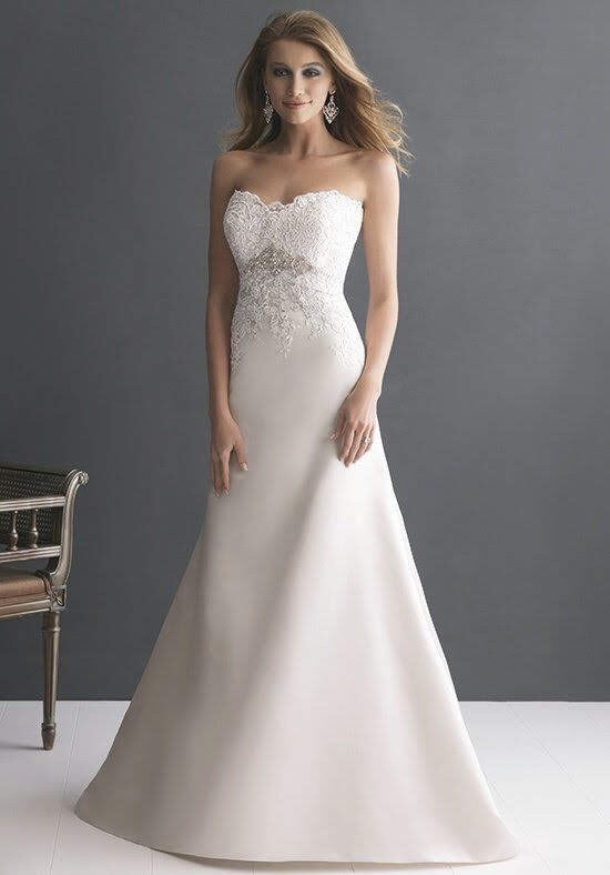 Allure 'Romance' size 10 used wedding dress front view on model