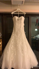Pronovias 'Basauri' size 6 new wedding dress front view on hanger