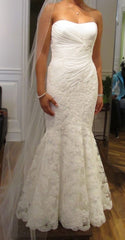 Enzoani 'Casablanca' size 6 new wedding dress front view on bride