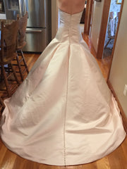 Justin Alexander 'Timeless' size 8 new wedding dress back view on bride