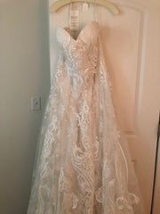 Casablanca 'Brielle' size 20 new wedding dress front view on hanger