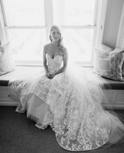 Load image into Gallery viewer, Hayley Paige 'Lulu' size 10 used wedding dress front view on bride