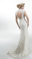 Maggie Sottero 'Odette 2015' size 8 new wedding dress back view on model