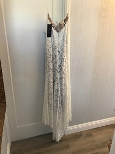 Watters 'Willowby' size 6 new wedding dress back view on hanger